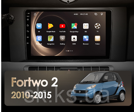 Junsun 4G Android магнитола для Mercedes Benz Smart Fortwo 2 2010 - 2015