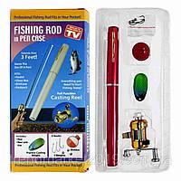Удочка складная телескопическая в виде ручки портативная Fishing Rod, фото 1