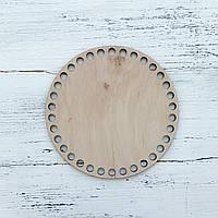 Донышко для вязаных аксессуаров из пряжи круг 15 см
