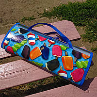 Распродажа! Коврик-подстилка на землю для пляжа, моря и пикника160 х 142см Синий С 3653 (I7 77881 2)