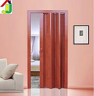 Дверь гармошка Folding МЕРБАУ глухая, складная, двери раздвижные межкомнатные ПВХ, скрытые двери пластиковые