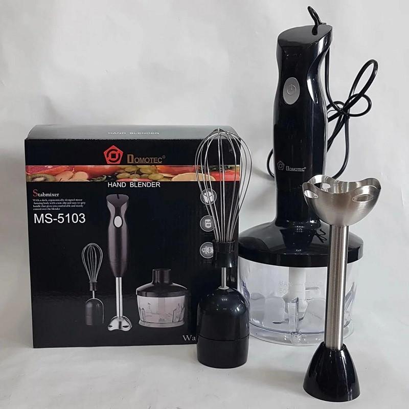 Блендер міксер подрібнювач 3в1 електричний DOMOTEC MS-5103 / 500 Вт для кухні (чоппер віночок чаша 600мл)