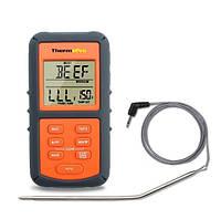 Термометр для мяса ThermoPro TP-06S с выносным датчиком из нержавеющей стали Оранжевый с серым md, КОД: 175920