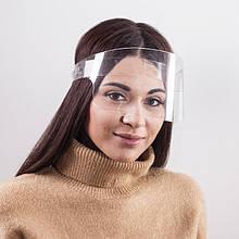 Захисний акриловий екран для особи у формі малого щитка висотою 11 см