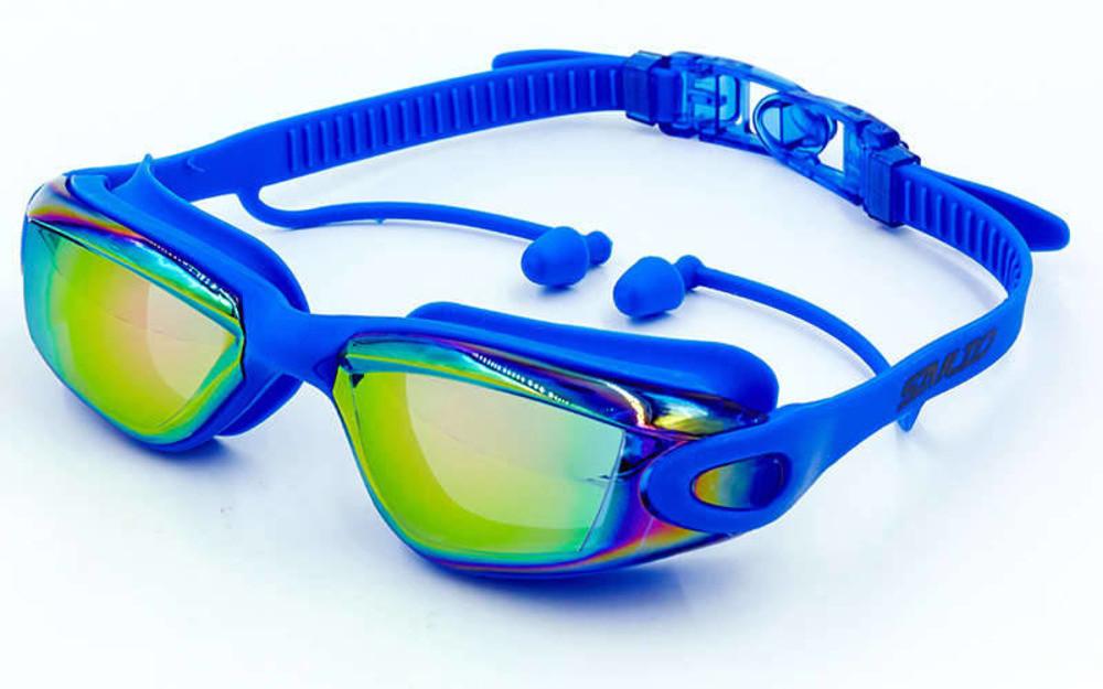 Очки для плавания с берушами в комплекте SAILTO KH39-A Blue (ZA04117)