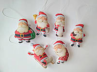 Набір ялинкових іграшок Санта Клауси 6 шт. SUN2420, КОД: 258221
