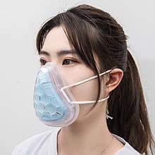 Силіконова маска-респіратор для продавця