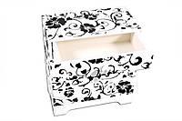 Комодик-шкатулка для украшений King Wood Черно-белый JF-C9040W, КОД: 218459