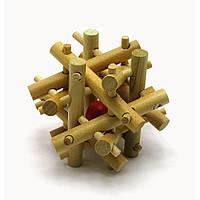 Гооловоломка DUKE деревянная 7х7х7см DN28021, КОД: 285911