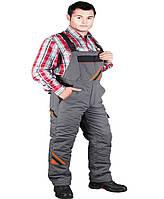 Защитные брюки-полукомбинезон PRO-WIN REIS XXXL Серо-черный, КОД: 297864