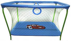 Манеж игровой KinderBox с крупной сеткой Синий km 73, КОД: 369353
