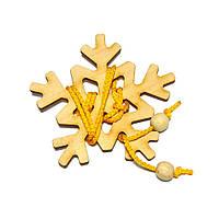 Головоломка Новогодняя Снежинка Крутиголовка krut0242, КОД: 120181