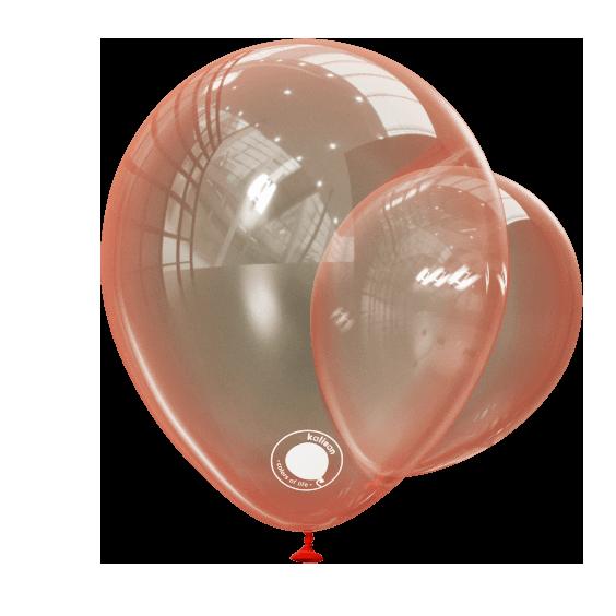 """Куля 12"""" (30 см) Kalisan кристал Red червоний (Калисан)"""