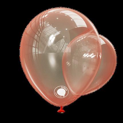 """Куля 12"""" (30 см) Kalisan кристал Red червоний (Калисан), фото 2"""