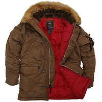 Куртка Alpha Industries Slim Fit N-3B 4XL Brown Red, КОД: 1313174