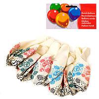 Шарики надувные MET10015, 10шт, 13см, рисунок, в кульке, 15-21-1см