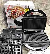 Сендвичница, вафельница, GRANT 4в1 GT 780 1200W  Черная Бутербродница, вафельница, орешница, гриль