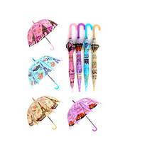 Зонтик детский RST040A, длина66см, трость61см, диам70см, спица48см, свисток, клеенка, 4цв, в кульке