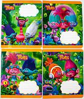 Комплект зошитів Міцар скоба 12 арк клітинка Серія Тролли 25 шт 288615, КОД: 901904