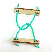 Головоломка деревянная Индийский трюк Крутиголовка krut0165, КОД: 119878