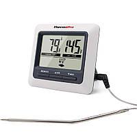 Термометр для мясаThermoPro TP-04 с магнитом и таймером Белый с серым mdr1028, КОД: 175933
