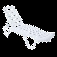 Шезлонг для отдыха Белый 18-101070-1, КОД: 372342