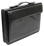 Деловая папка-портфель Exclusive из кожзаменителя Черный 711200, КОД: 293703