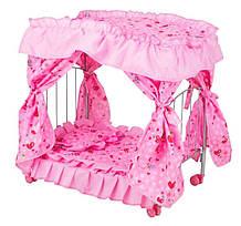 Кроватка для куклы Kronos Toys 9350 E Розовая int9350 E, КОД: 961279