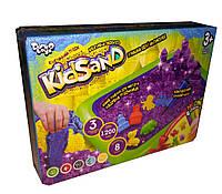 Кинетический песок Danko Toys KidSand 1200 г с песочницей Разноцветный gabkrp150OQdk7, КОД: 916385