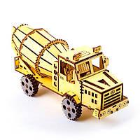 3D конструктор ekoGOODS Грузовик КрАЗ Бетономешалка Желтый krut0269, КОД: 128452