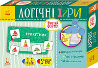 Логічні ігри Кенгуру 2+ Вивчай форми 24 картки Укр 292820, КОД: 119545