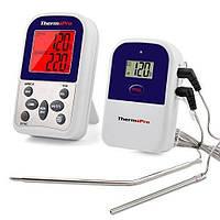 Беспроводной двухканальный термометр Thermoprobe ThermoPro TP-12 с таймером Белый mdr0111, КОД: 1267901