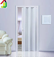Двері гармошка Ясен глуха, складна, двері розсувні ПВХ, приховані двері пластикові Folding