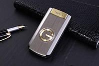 Телефон кнопочный раскладушка серебристый с большим дисплеем на 2 сим карты Tkexun G3 silver