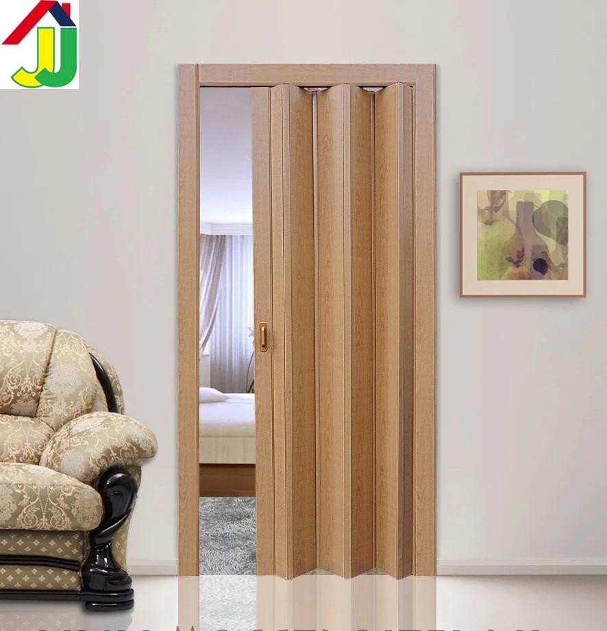 Дверь гармошка Folding КЛЕН глухая, складная, двери  раздвижные межкомнатные ПВХ, скрытые двери пластиковые