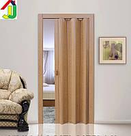 Двері гармошка КЛЕН глуха, складна, двері розсувні ПВХ, приховані двері пластикові Folding