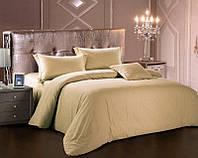 Комплект постельного белья Love You Евро Страйп-сатин 200х220 см Темно-бежевый psgLY-SS-TB-2, КОД: 944310