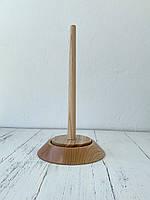 Держатель для пряжи одинарный светлое дерево 15*25 см
