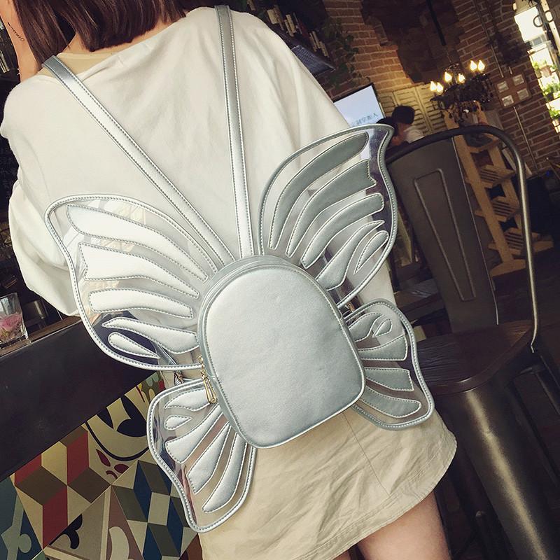 Рюкзак Kronos Top Бабочка с крыльями Cеребристый (stet_1120.3)