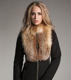 женское пальто из кашемира с мехом