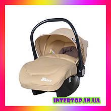 Дитяче автокрісло для немовлят автолюлька група 0+ (0-13 кг) TILLY Sparky T-511 Бежевий