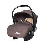 Детское автокресло для новорожденных автолюлька группа 0+ (0-13 кг)  TILLY Sparky T-511 Коричневый, фото 2