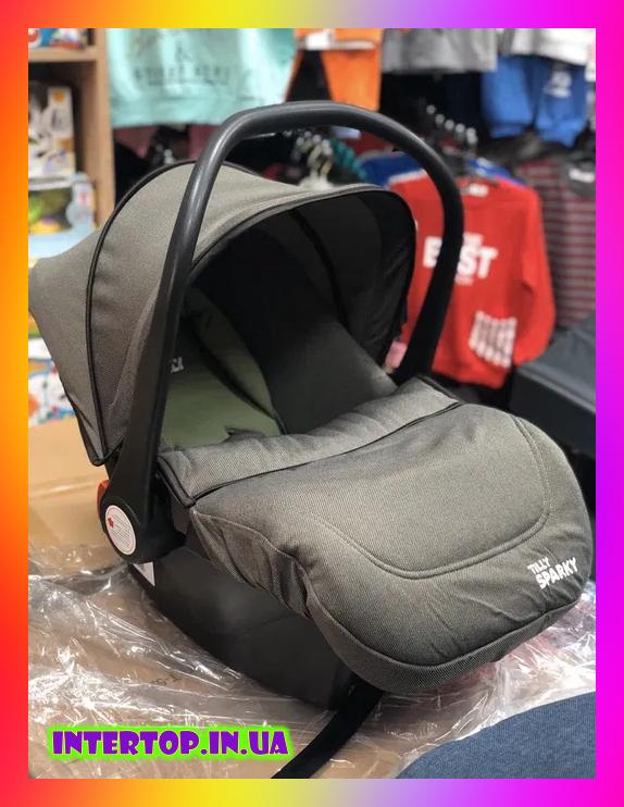 Детское автокресло для новорожденных автолюлька группа 0+ (0-13 кг)  TILLY Sparky T-511 Серый