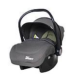 Детское автокресло для новорожденных автолюлька группа 0+ (0-13 кг)  TILLY Sparky T-511 Серый, фото 2