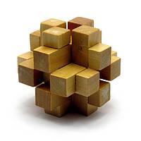 Головоломка Duke деревянная 7х7х7 см DN28017, КОД: 314641