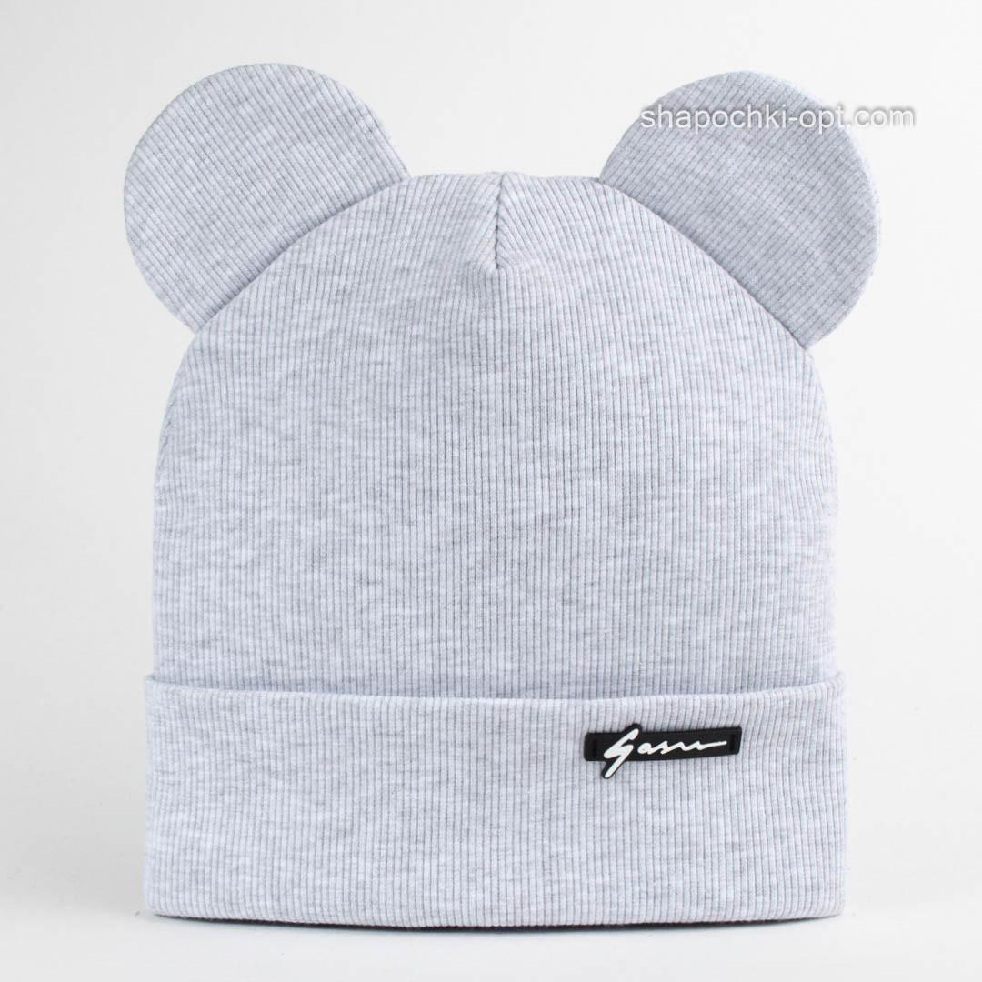 Серая меланжевая шапка Мик