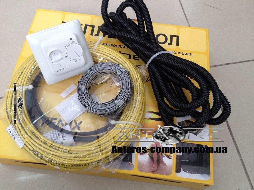 Резистивный електрический кабель в стяжку , 2,2 м2 (акционная цена с механическим RTC 70.26)(460 вт)