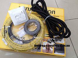 Теплый пол для монтажа в стяжку с двужильным нагревательным кабелем in-therm ADSV20 2,2 м.кв (460 вт)