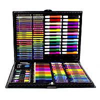 Большой набор для детского творчества и рисования Super Mega Art Set Black 168 предметов 3962-114, КОД: 1559710