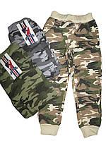 Спортивные камуфлированные брюки для мальчика с начесом оптом, размеры 104, арт. HZ 5656